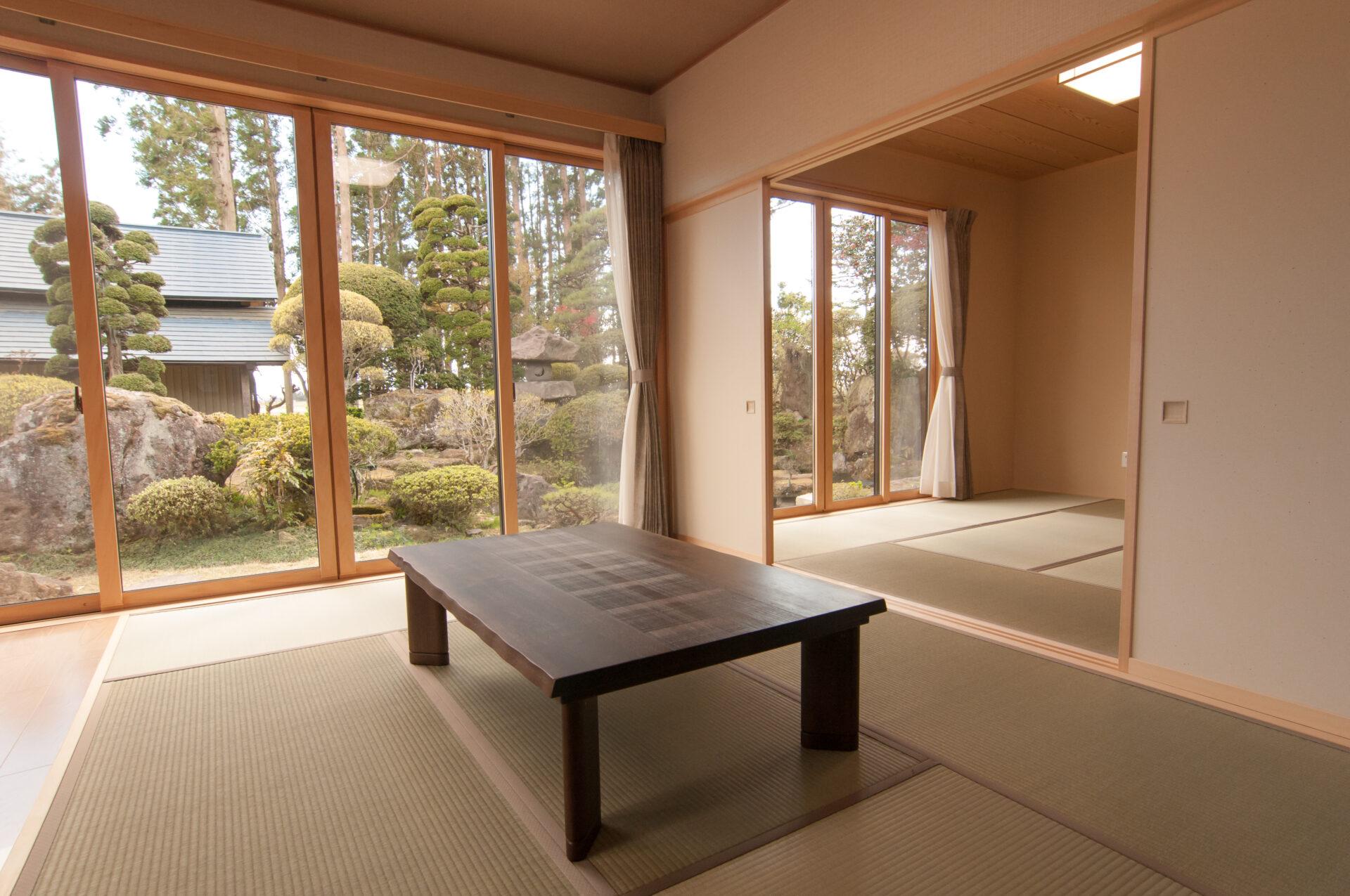 どの部屋からもお庭が眺められる解放感のある家。<br>でも耐震性もばっちり!|大崎市|