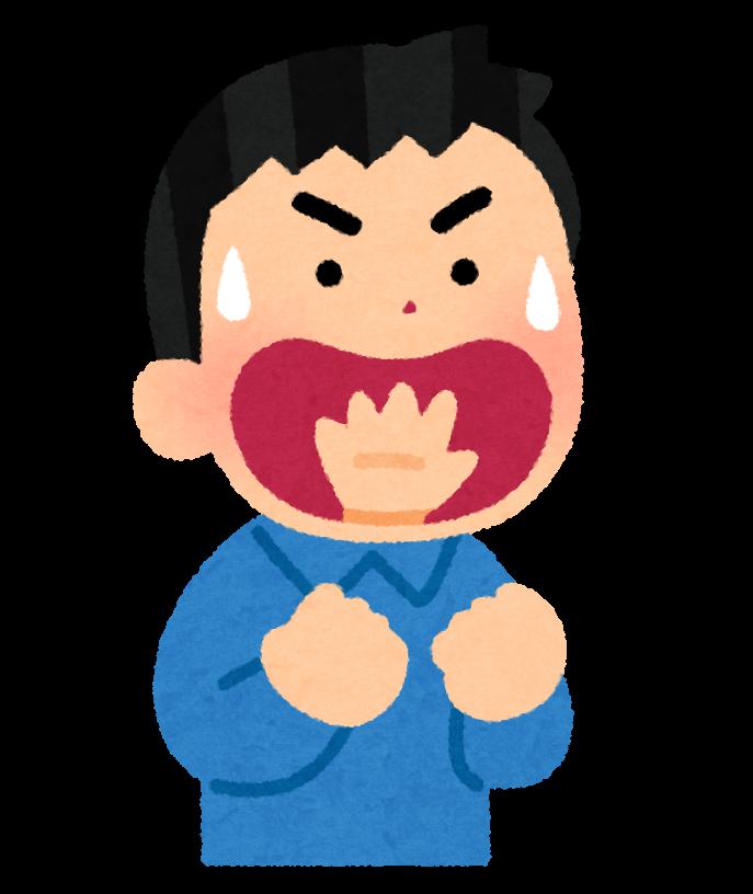 kotowaza_nodokara_tegaderu_man